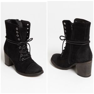 STEVE MADDEN | Gretell Black Suede Ankle Boots 7